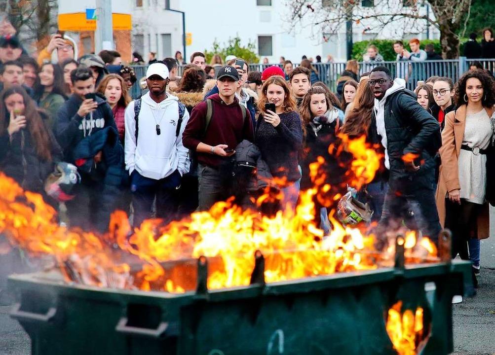 Schülerproteste in Frankreich    Foto: dpa