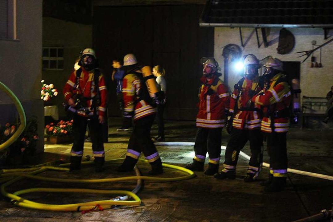 Löscheinsatz am Donnerstagabend im Herbolzheimer Ortsteil Broggingen    Foto: Feuerwehr Herbolzheim