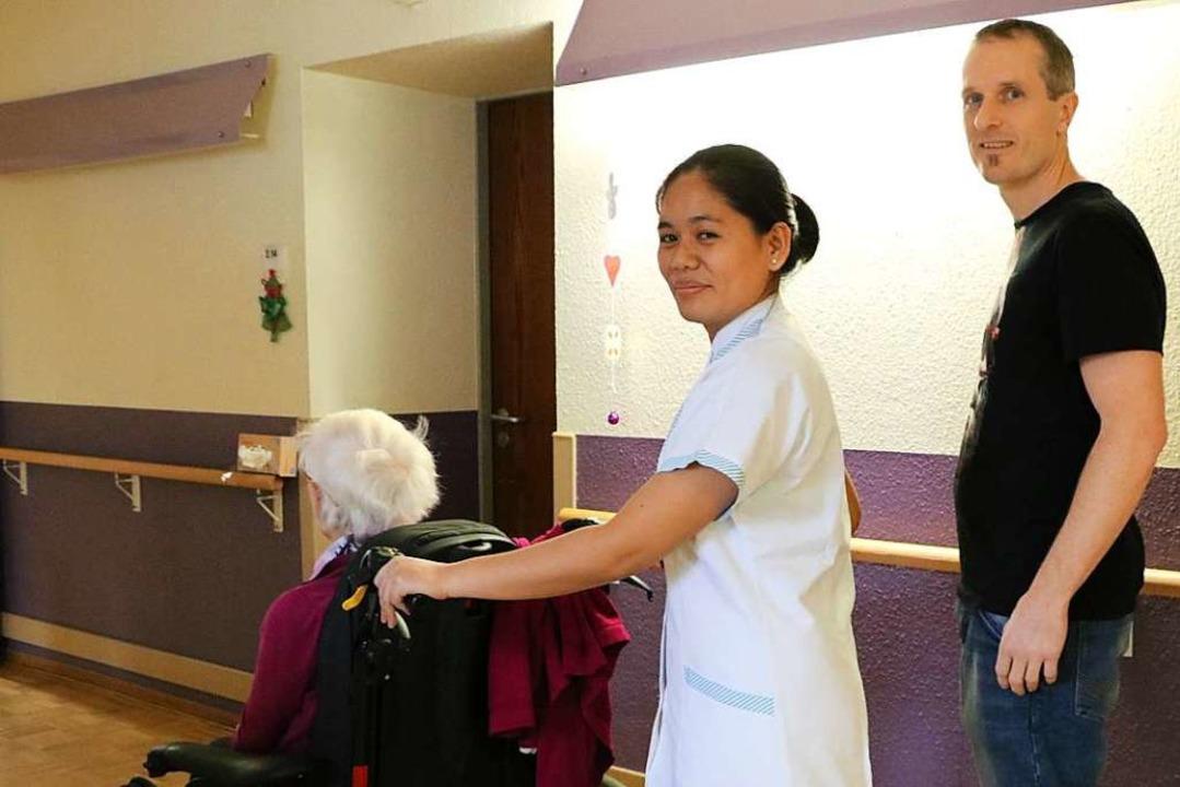 Philippinische Pflegekräfte wirken in ...h über die Unterstützung aus Fernost.   | Foto: Martha Weishaar