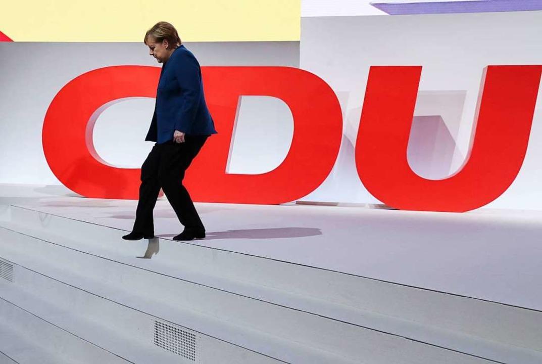 Angela Merkel tritt ab.  | Foto: dpa