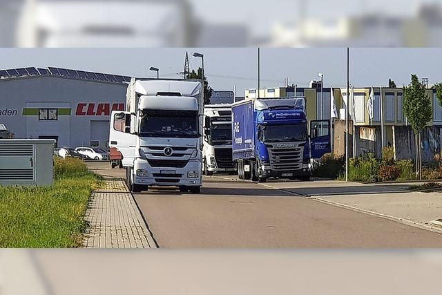 Lkw-Fahrer stellen Anwohner im Herbolzheimer Gewerbegebiet auf die Probe