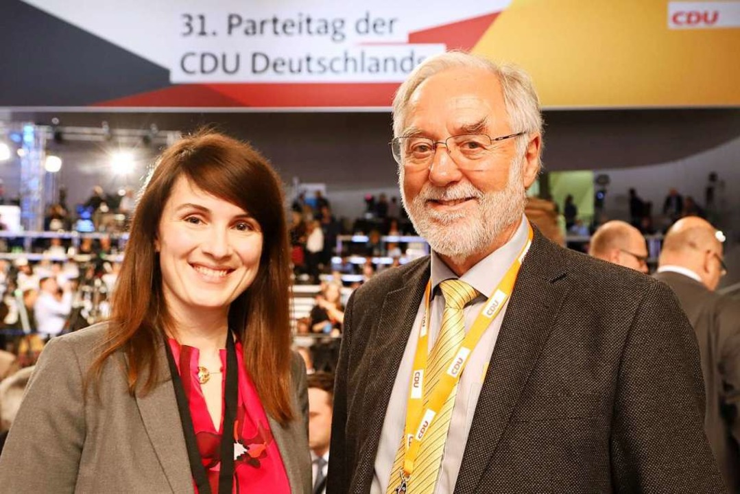 Die Freiburger CDU-Delegierten Carolin...erstützten Annegret Kramp-Karrenbauer.  | Foto: Privat