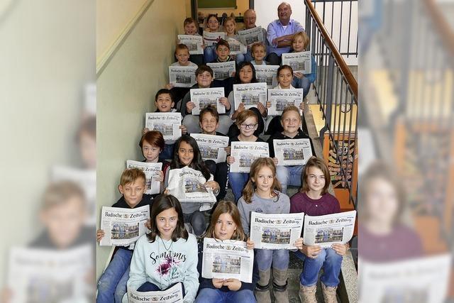 Zeitung ist Thema in der Schule