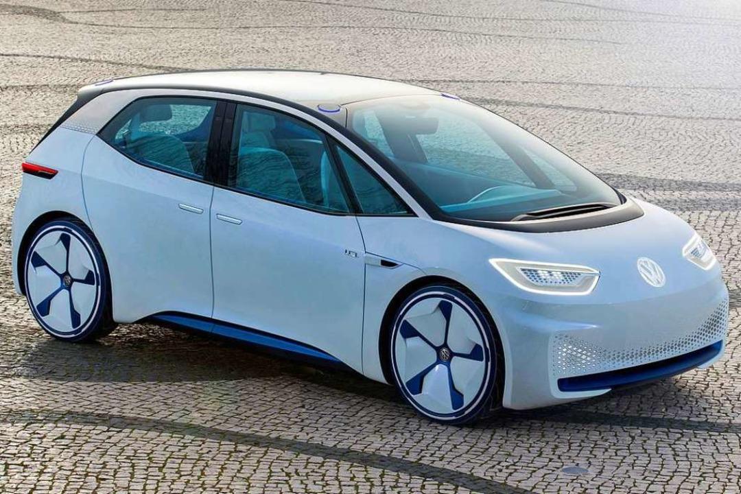 Wo es künftig langgehen konnte, zeigt die Studie eines E-Autos von VW.     Foto: VW