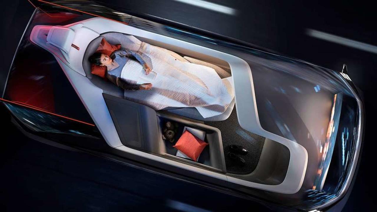 Neues Nutzungskonzept bei der Volvo-Studie 360c     Foto: volvo