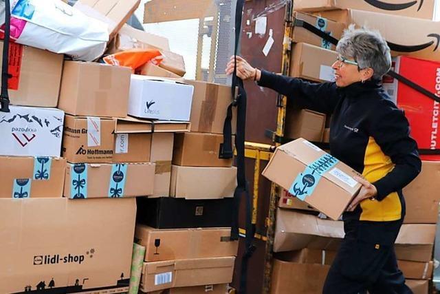 Vor Weihnachten herrscht Hochbetrieb bei Paketzustellern