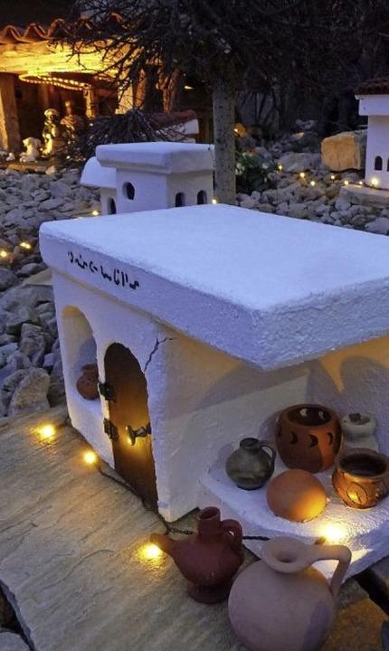 Bethlehem in Kollmarsreute: Eine klein...ist zur Weihnachtszeit hier zu finden.  | Foto:   Rußhardt