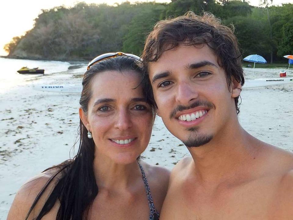 Segler Rodrigo Dantas mit  Mutter Aniete  | Foto: -