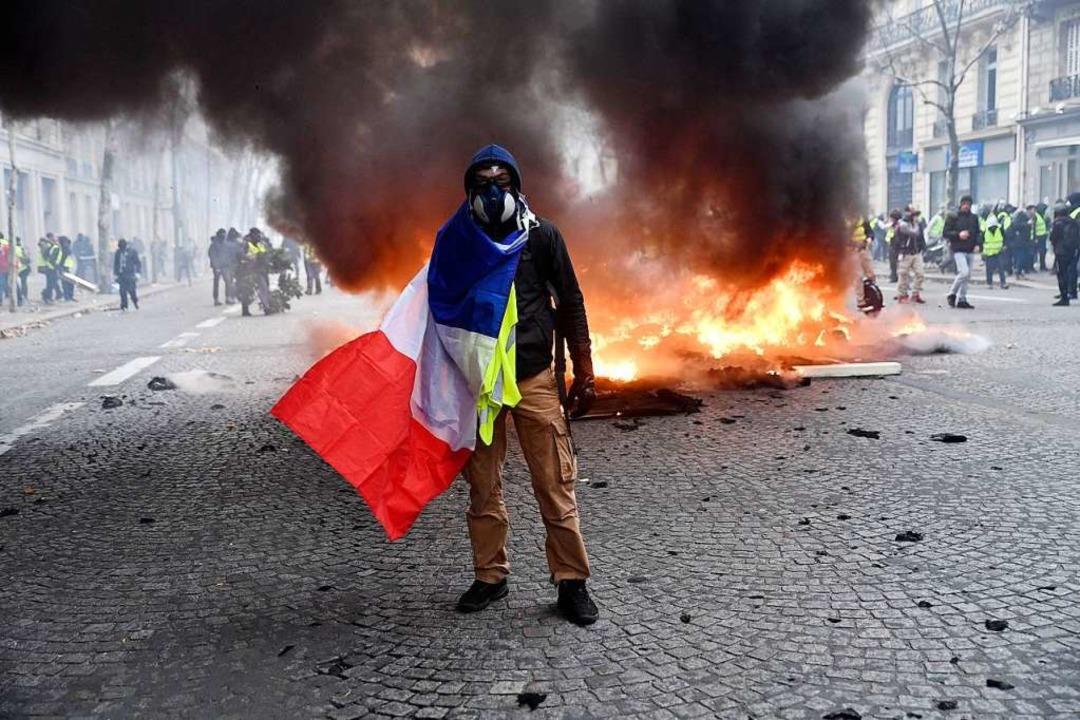 """In Paris ist es zu neuen Protesten der """"Gelbwesten"""" gekommen    Foto: dpa"""