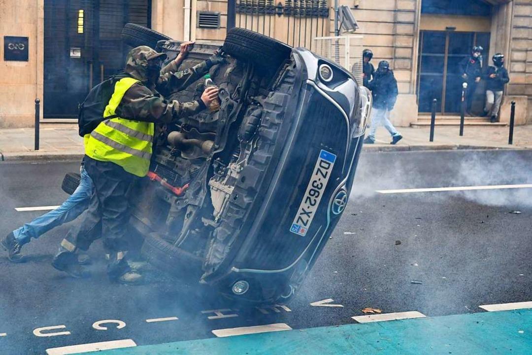 """In Paris ist es zu neuen Protesten der """"Gelbwesten"""" gekommen    Foto: AFP"""