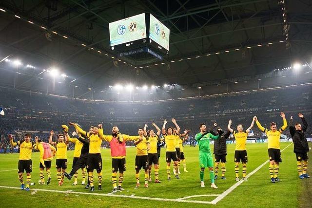 Dortmund gewinnt das Derby gegen Schalke mit 2:1