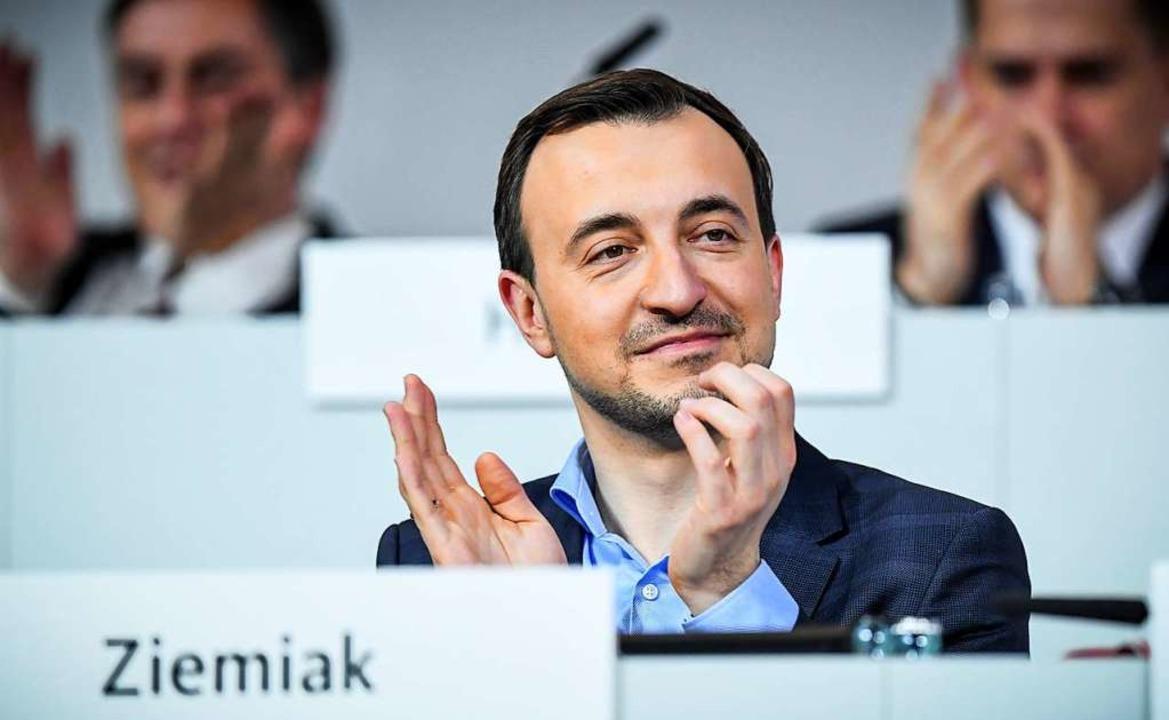Paul Ziemiak  beim CDU-Bundesparteitag    Foto: dpa