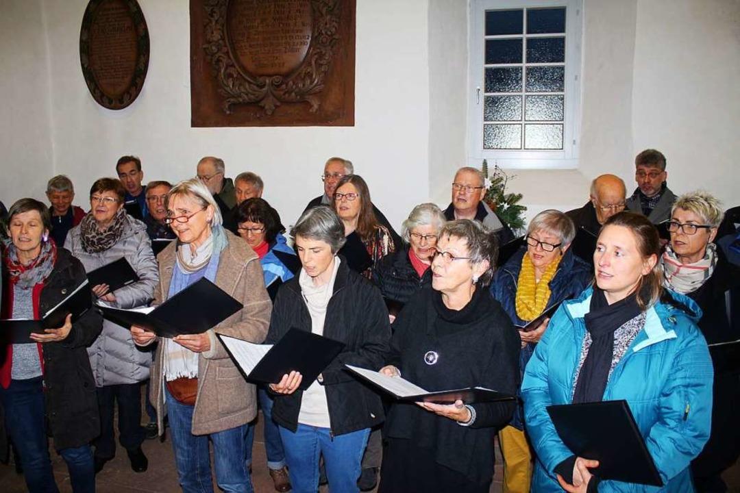 In St. Agathen wird durchgehend gesungen oder musiziert    Foto: Anja Bertsch