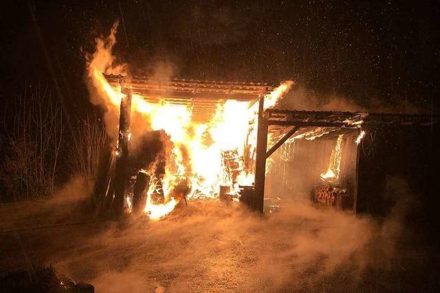 Feuerwehr Freiamt verhindert bei Schuppenbrand Schlimmeres