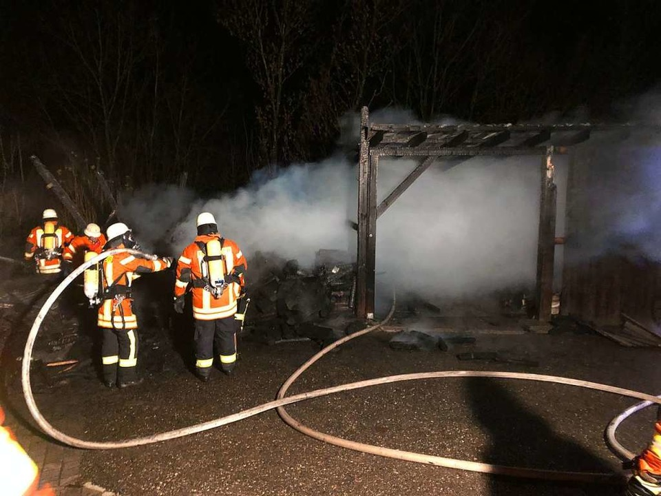 Die Feuerwehr war mit 45 Mann im Einsatz.    Foto: Feuerwehr Freiamt