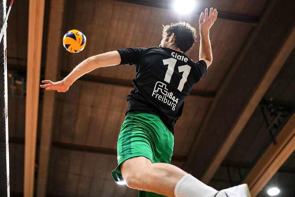 Volleyball-Heimspiel der FT 1844 Freiburg gegen den SSC Karlsruhe (Foto: Patrick Seeger)
