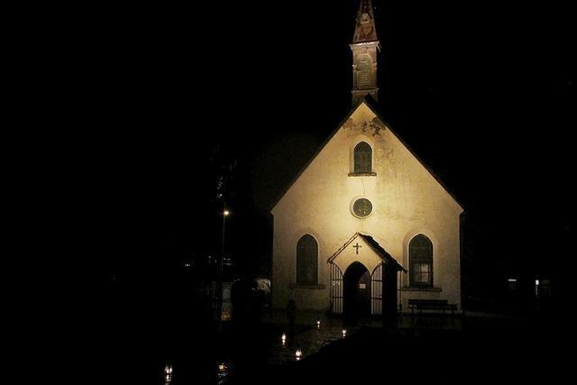 Beleuchtete Adelbergkirche