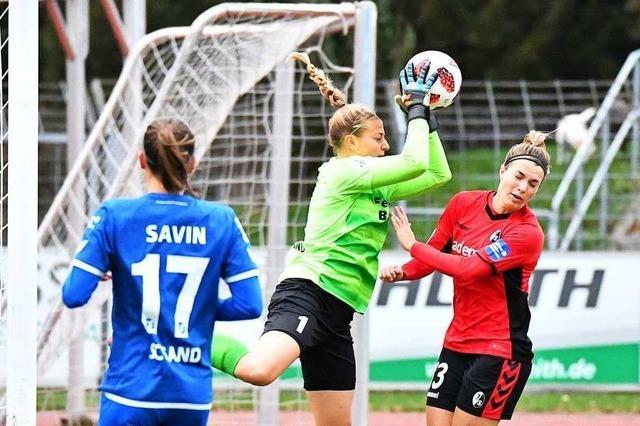 2:2 – die Frauen des SC Freiburg erreichen im Südbaden-Derby gegen den SC Sand nur ein Remis