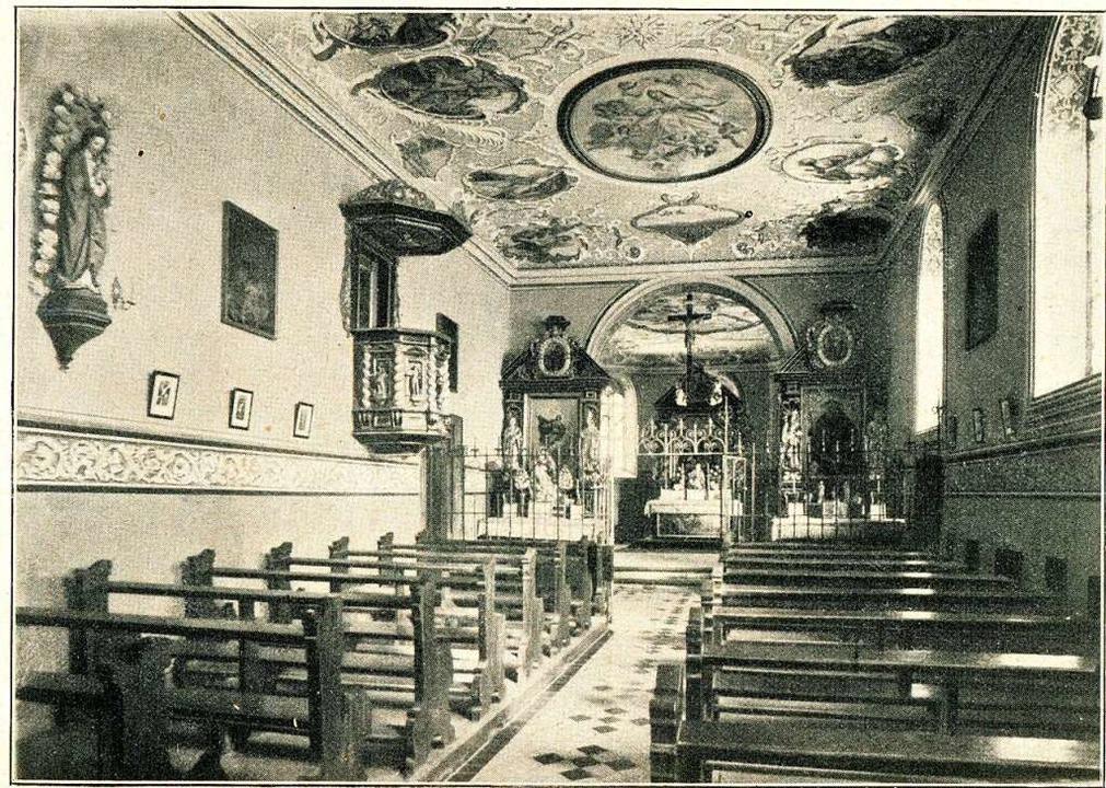Die historische Aufnahme von Max Stork...ttilien-Kapelle damals innen aussah.    | Foto: Bibliothek Augustinermuseum/Ingo Schneider