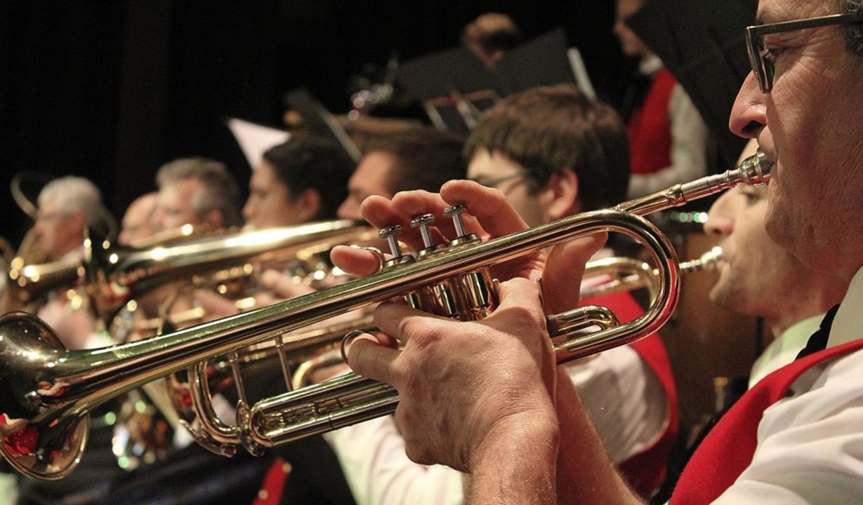 Das Trompetenregister kam besonders bei den Wagner-Stücken zur Geltung.  | Foto: Erich Krieger