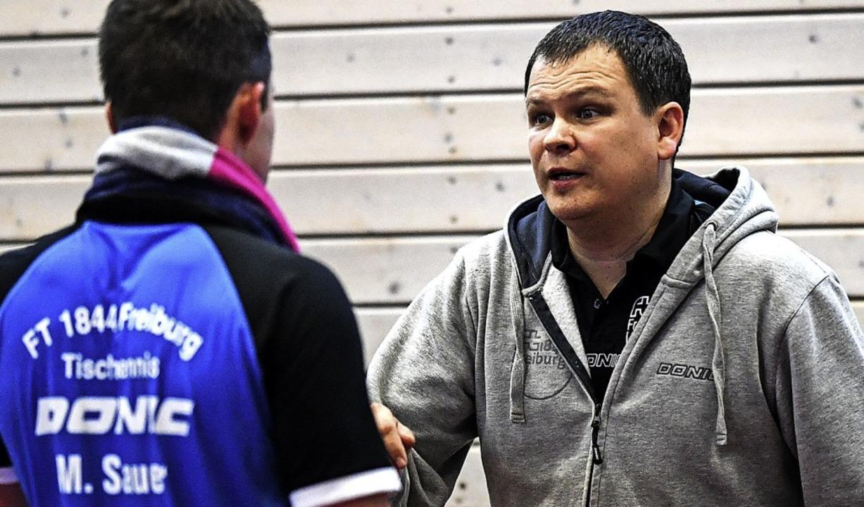 Zufrieden mit den Leistungen seiner Sp...4-Spielertrainer Konstantin Chepkasov   | Foto: Seeger