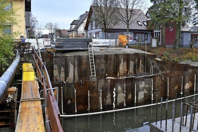 Baustelle Mühlbachbrücke