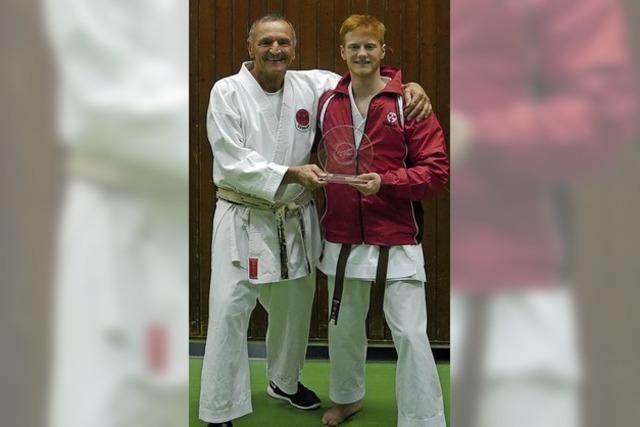 Karate-Award für Marius Werz