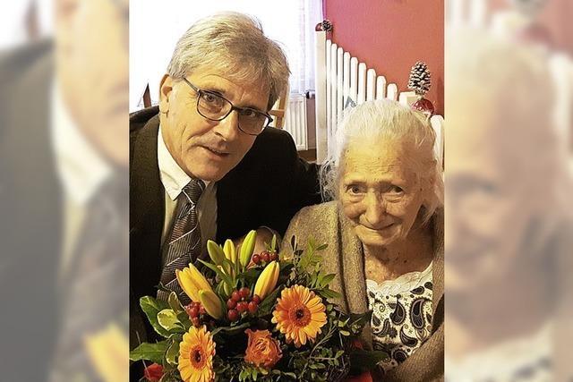 Glückwünsche für Schallstadts älteste Bürgerin
