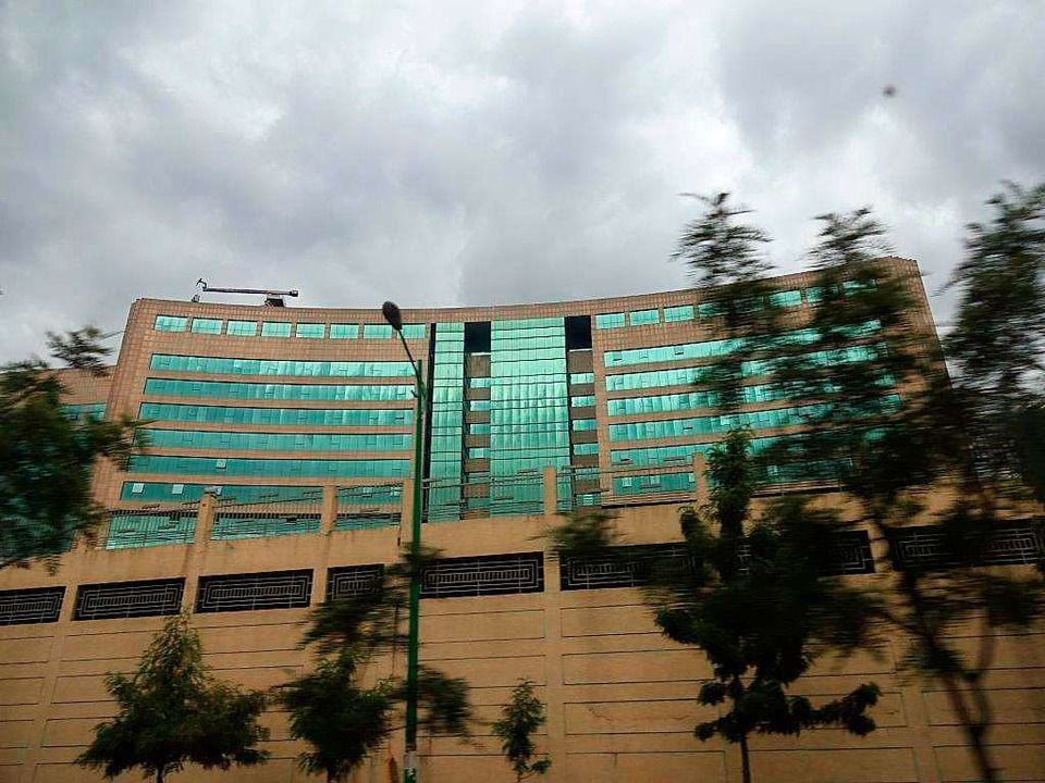 Der Gebäudekomplex der Afrikanischen Union in Addis Abeba, Äthiopien    Foto: wolter