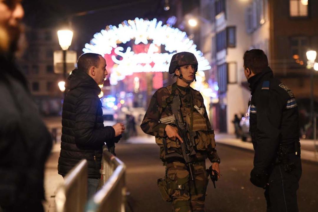 Polizeieinsatz nach Angriff auf Straßburger Weihnachtsmarkt  | Foto: AFP