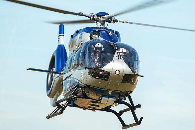 Polizei jagt Einbrecher mit Hubschrauber im Freiburger Westen