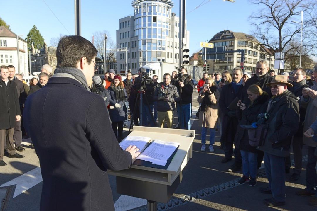 Bei der Eröffnung  | Foto: Ingo Schneider