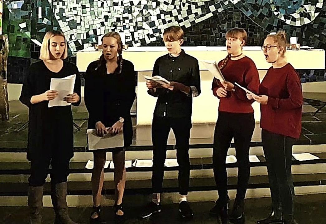 Das fünfköpfige Jugendensemble zeigte ...und erntete dafür jede Menge Applaus.     Foto: Gerlinde Schütz