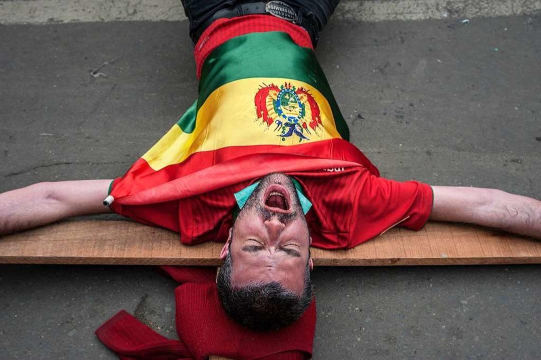 Protest gegen Morales in La Paz, dem Sitz der Regierung Boliviens    Foto: dpa