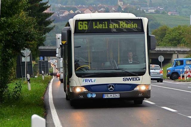 Die Linie 66 Weil am Rhein ist an der Kapazitätsgrenze