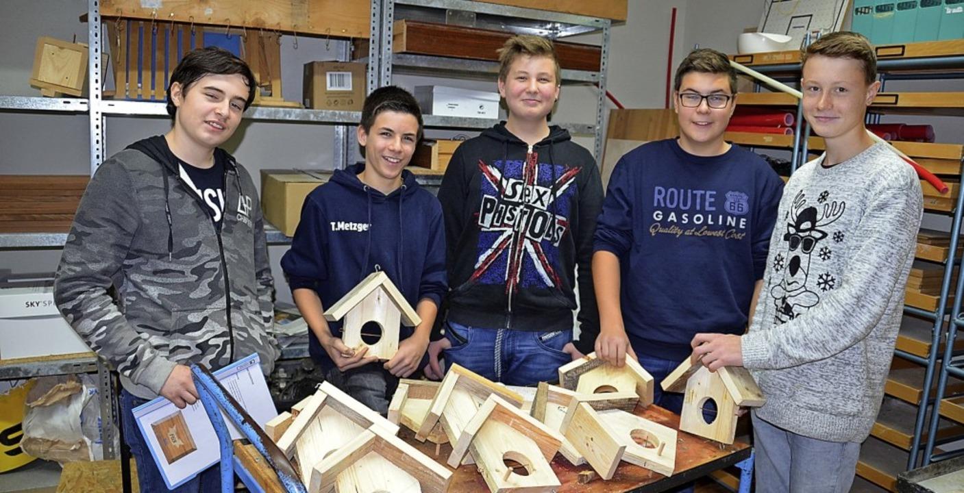 Die Gründer der Schülerfirma Sofi (von...er, Kevin Finkbeiner und Luis Wagner.   | Foto: Sebastian Barthmes