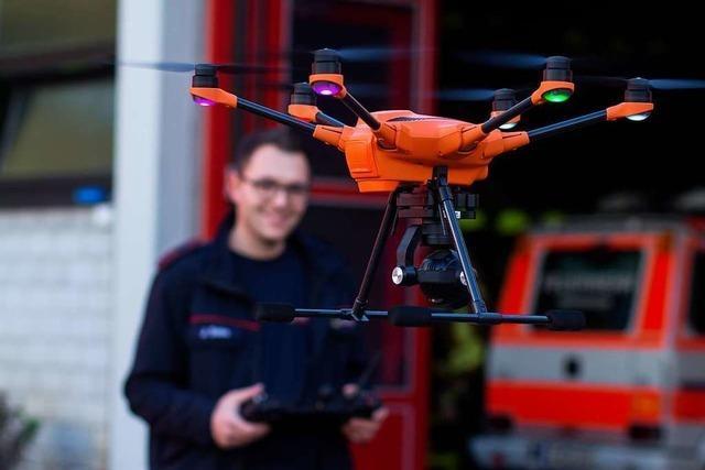 Warum sich Stadt und Feuerwehr eine Drohne teilen