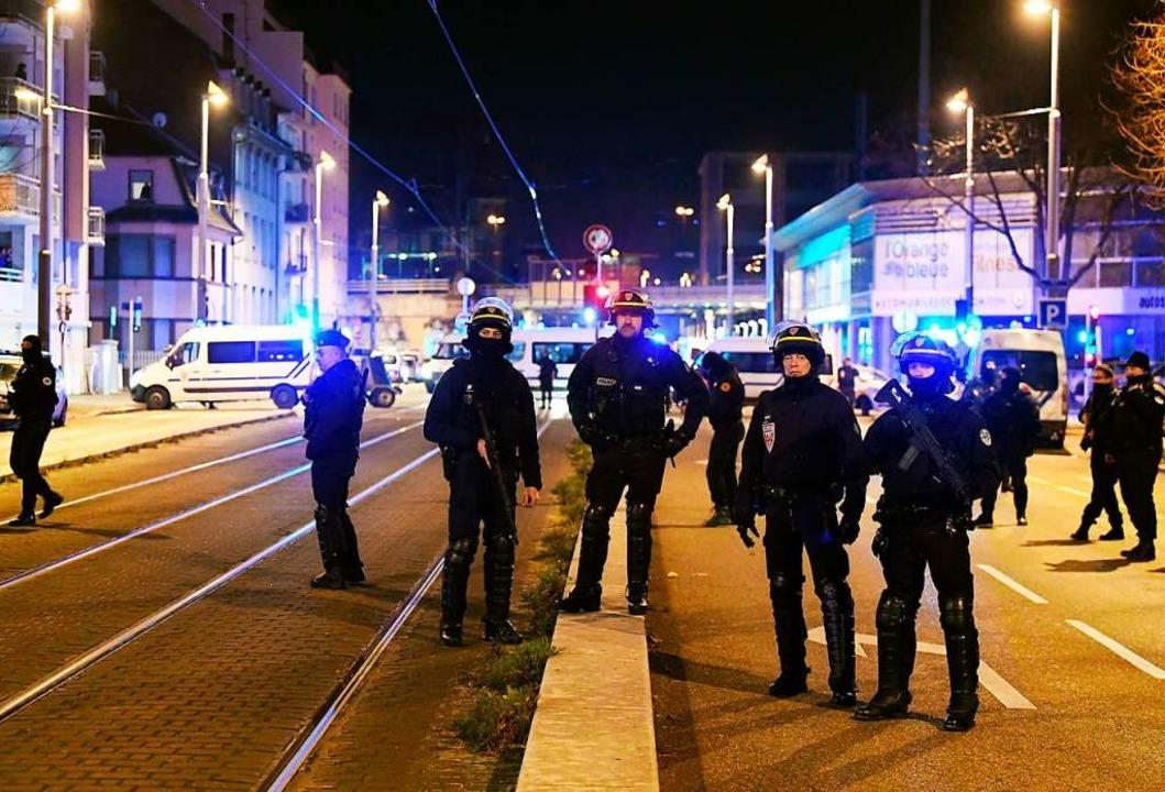 Französische Polizei im Anti-Terror-Einsatz  | Foto: AFP