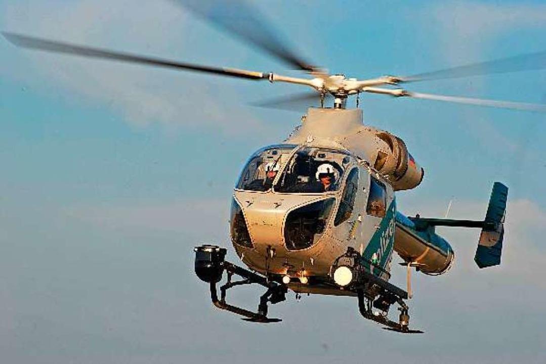 Das Helikopterteam der Polizei hat am ...eiburg eine vermisste Person gesucht.   | Foto: Symbolbild: Polizei