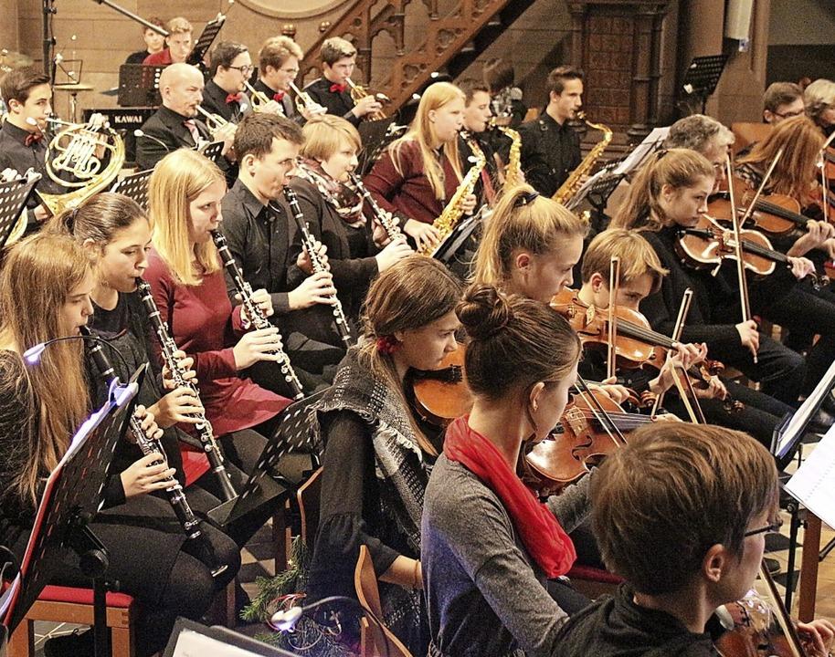 Ob an Instrumenten (unterstützt durch ...r Gymnasium Talente zur Schule gehen.   | Foto: Anja Bertsch