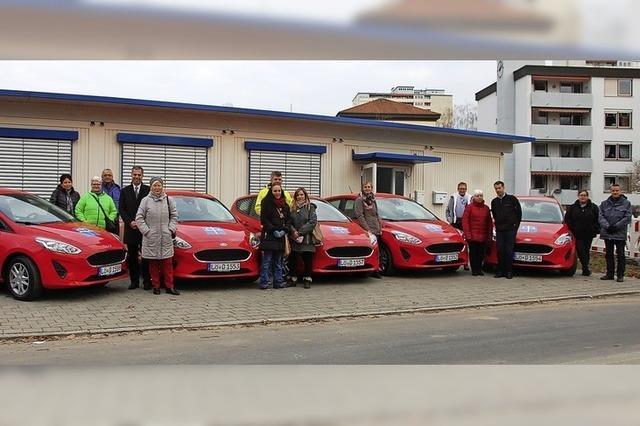 Zehn neue Fahrzeuge für die Diakonie