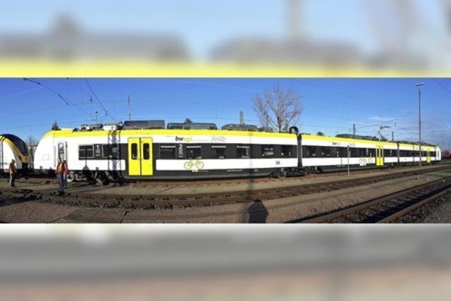 Neue S-Bahn auf Probefahrt