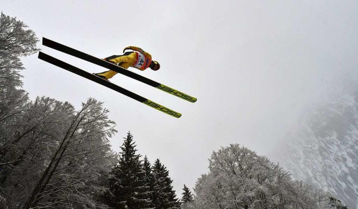 Kasai bei der Skiflug-WM in Oberstdorf im Januar  | Foto: CHRISTOF STACHE