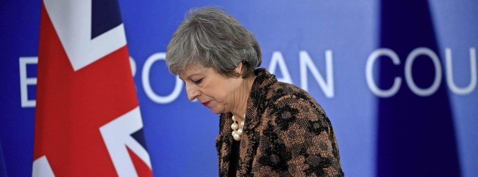 Theresa May hat in Brüssel nichts Substanzielles erreicht.     Foto: AFP
