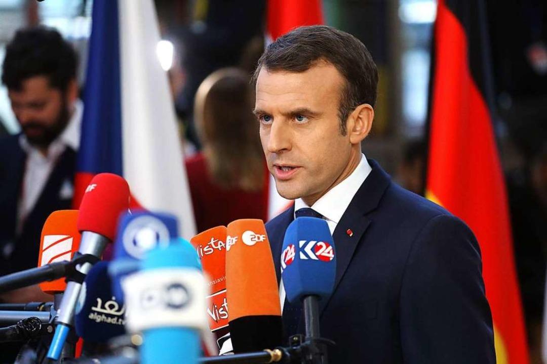 Populistische Bewegungen treiben Frank...ron vor sich her, findet Lüder Gerken.  | Foto: AFP