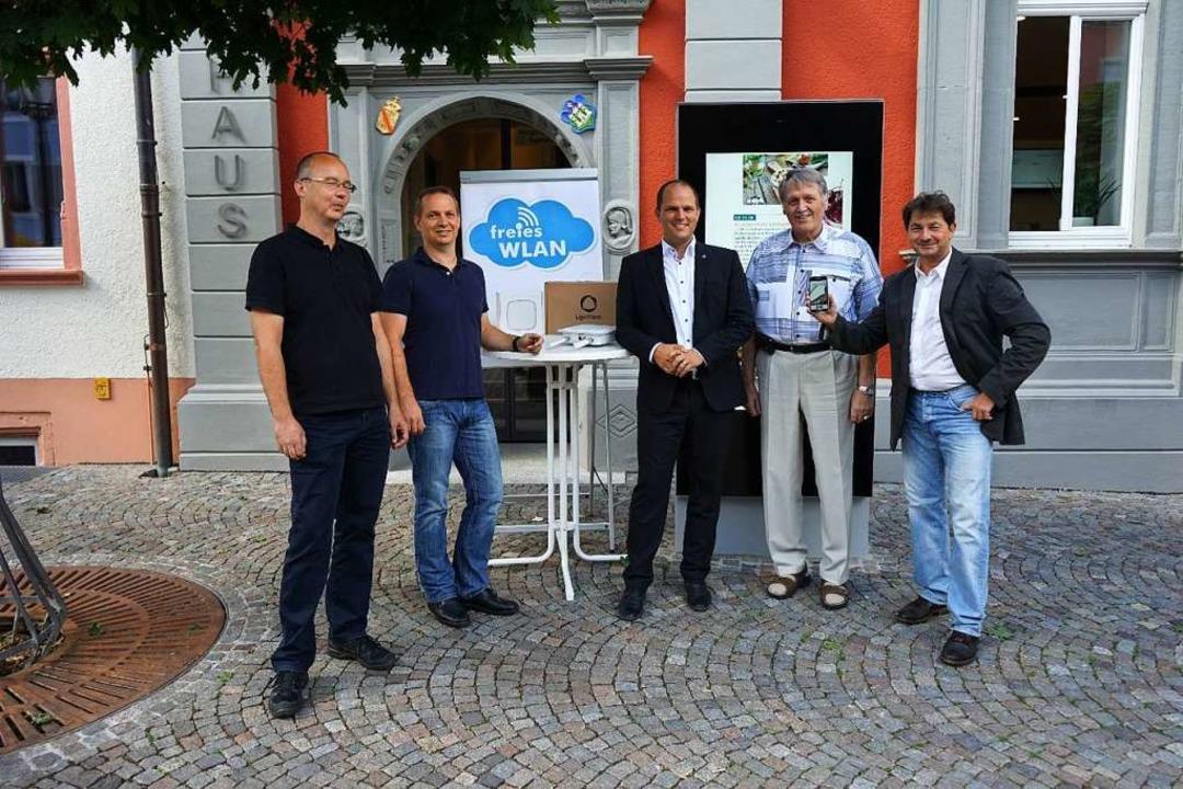 Seit 2017 gibt es  auf dem Marktplatz in Waldkirch freies WLAN (Archivbild).  | Foto: Stadt Waldkirch