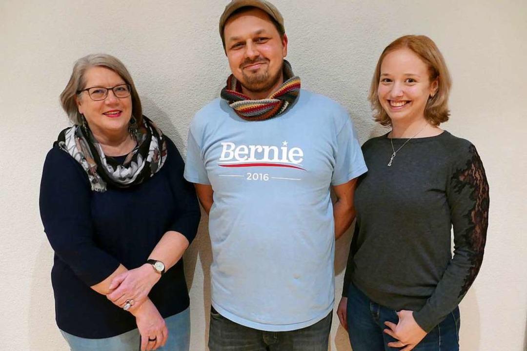 Die ersten Drei der Linken Liste für d...Gregory Mohlberg und Annemarie Reyers.  | Foto: Fabian Vögtle