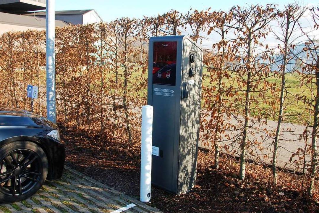 Stromtankstelle beim Vitra Haus<ppp></ppp>  | Foto: Herbert Frey