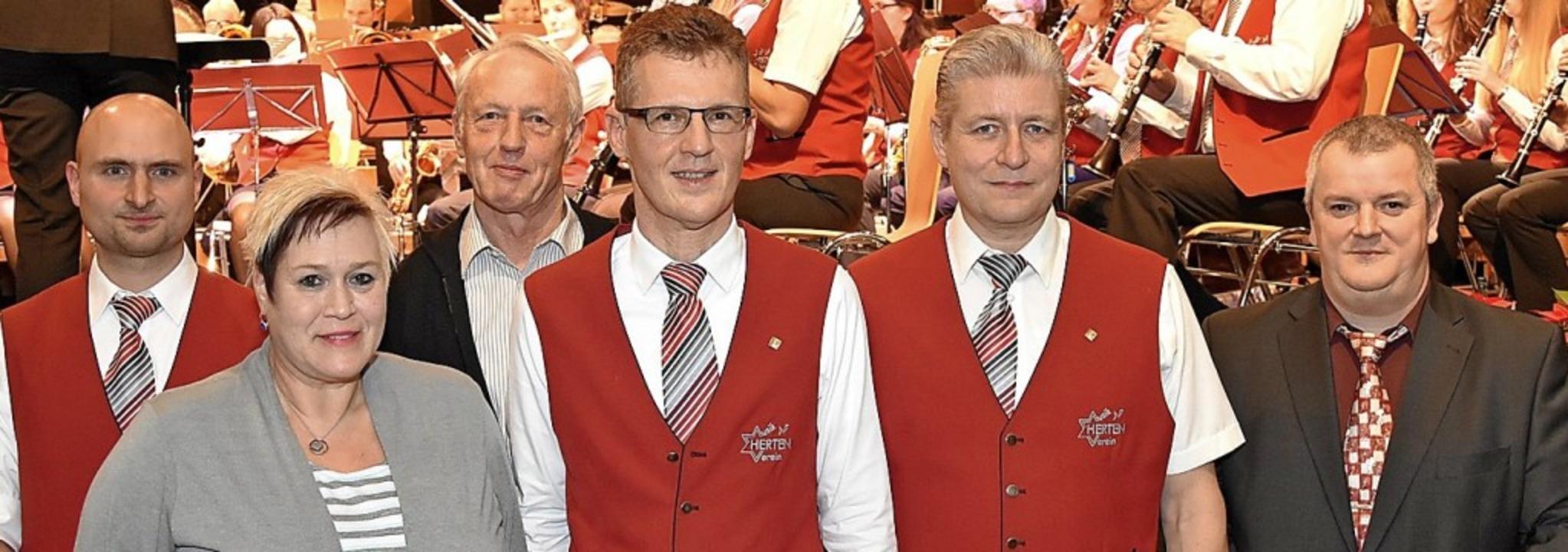 Von links:  Stefan Übelin, Elisabeth P... Bernd Wolpensinger und Holger Gertz.     Foto: Vollmar