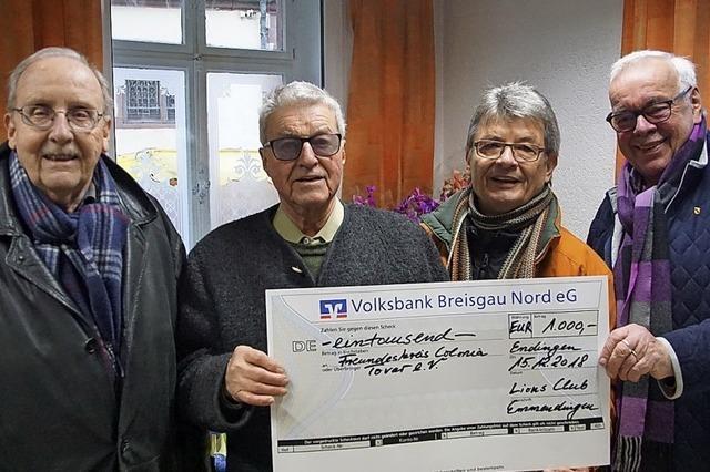 Lions-Club spendet Geld für Menschen in Colonia Tovar